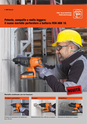 Il nuovo martello perforatore a batteria FEIN ABH 18