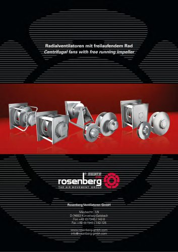 Centrifugal fans with free running impellers