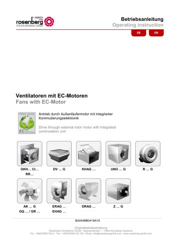 Fans with EC-drives