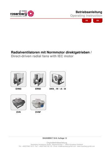 Fans with IEC standard motor