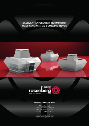 Roof Fans with IEC Standard Motor