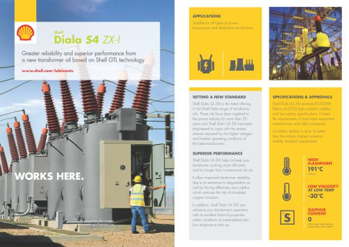 SHELL DIALA S4 ZX-I PRODUCT LEAFLET