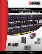 Stationary Battery Systems and Test & Monitoring Equipment