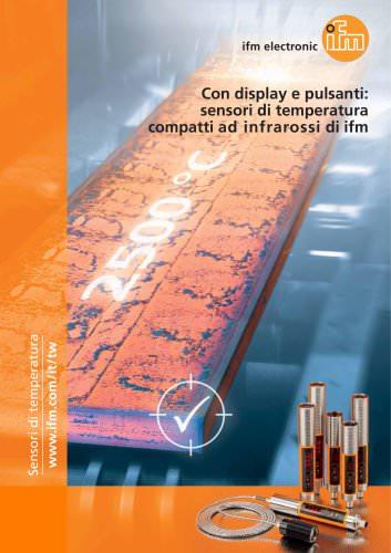 Con display e pulsanti: sensori di temperatura compatti ad infrarossi di ifm.