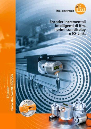Encoder incrementali intelligenti di ifm. I primi con display e IO-Link.