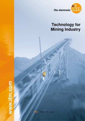 IFM Technology for Mining Industry - Catalogue 2016
