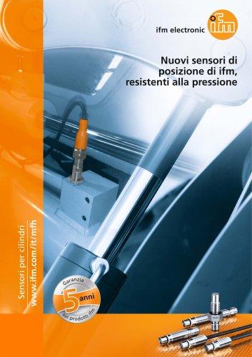 Nuovi sensori di posizione di ifm, resistenti alla pressione.