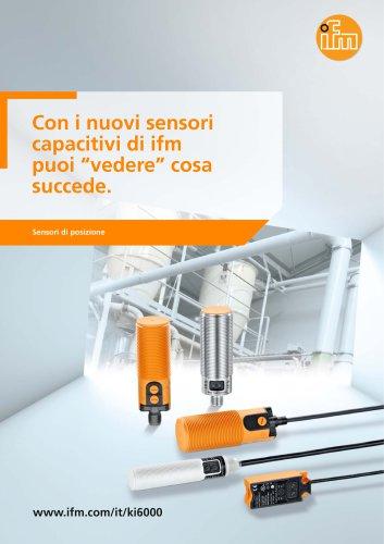 Rilevare il materiale con i nuovi sensori capacitivi di ifm.
