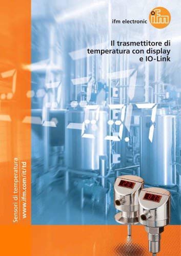 Il trasmettitore di temperatura con display e IO-Link