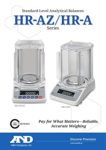 HR-AZ / HR-A Series of Standard-Level Analytical Balances