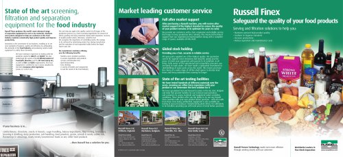 Russell Finex separation equipment for the Food Industry