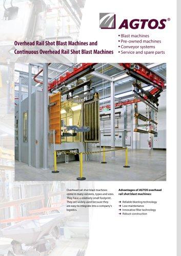 Overhead Rail Shot Blast Machines + Continuous Overhead Rail Shot Blast Machines