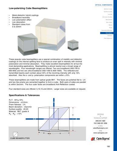 Low-polarizing Cube Beamsplitters