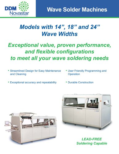 14FS Single and 14FD Dual Wave Solder Machines