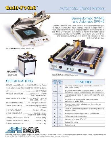 Auto Stencil Printers, SPR 40/45