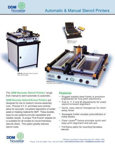 Automatic & Manual Stencil Printers
