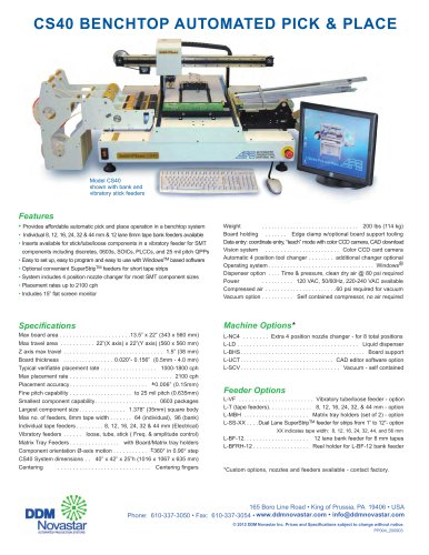 CS40 BENCHTOP AUTOMATED PICK & PLACE