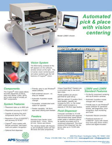 LS40V Pick and Place Machine with Vision