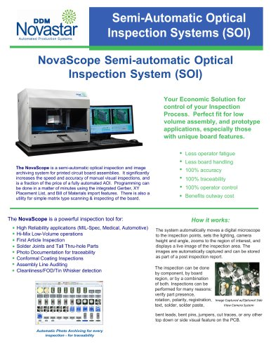 NovaScope Semi-automatic Optical Inspection System (SOI)