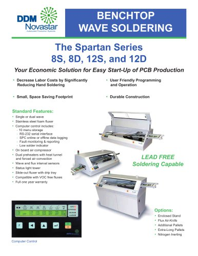Spartan 8S and 8D Wave Soldering Machines  Spartan 8S and 8D Wave Soldering Machines