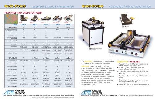 Stencil Printers, Automatic & Manual