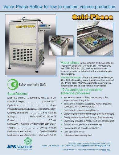 VP500 Vapor Phase Oven