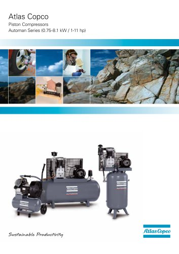Atlas Copco Piston Compressors Automan Series (0.75-8.1 kW / 1-11 hp)