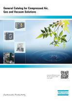 General Catalog for Compressed Air, Gas and Vacuum Solutions