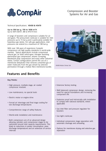Compression and Booster Systems for Air and Gas