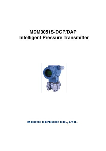 0.075% Accuracy Differential Pressure Transmitter MDM3051S