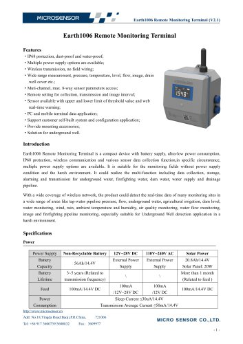 IOT Remote Monitoring Terminal Earth1006
