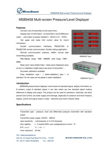 Measurement Controller MSB9458