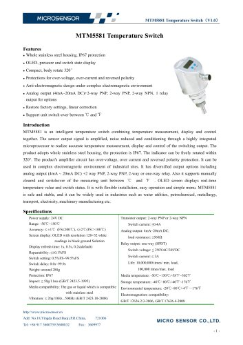 MTM5581 Temperature Switch