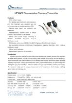 OLED Display Pressure Transmitter MPM480