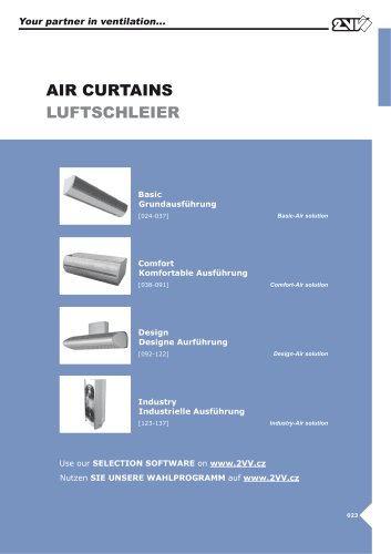 Air curtains_technical catalog