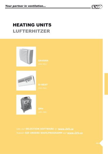 Heating units_technical catalogue
