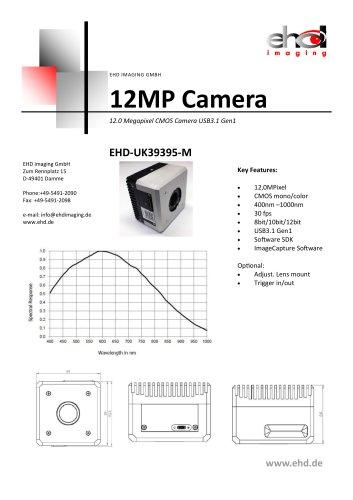 EHD-UK39395M 12MP mono or color CMOS Camera