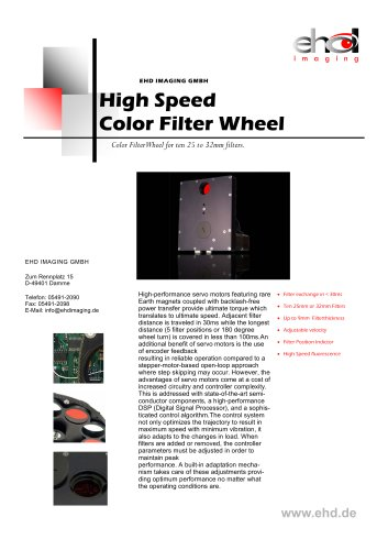 High Speed Color Filter Wheel