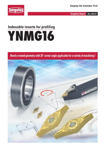 Indexable inserts for profiling   YNMG16 Type