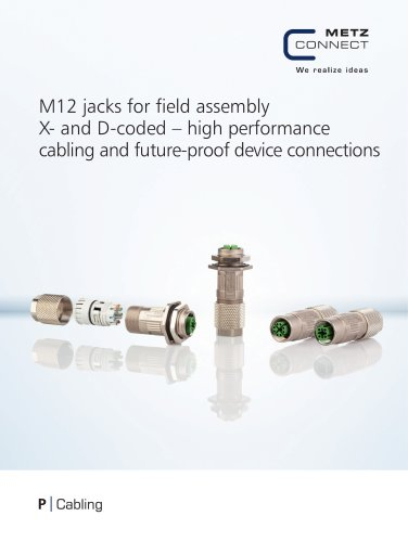P|abling - M12 jacks for field assembly X- and D-coded