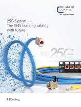 P|Cabling - 25G System – The RJ45 building cabling with future