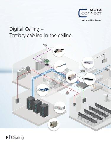 P|Cabling - Digital Ceiling - Tertiary cabling in the ceiling