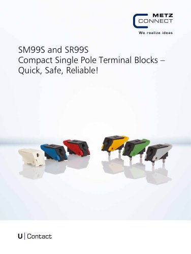 U|Contact - SM99 and SR99 Compact Single Pole Terminal Blocks – Quick, Safe, Reliable!
