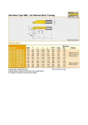 PICCO Solid Carbide Mini Boring Bars • Inch