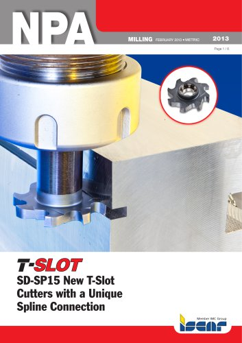 SD-SP15 New T-Slot Cutters with a Unique Spline Connection
