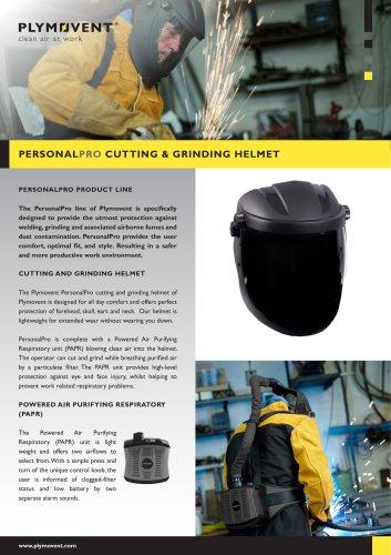 Cutting & grinding helmet