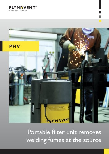 PHV - Portable filter unit removes welding fumes at the source