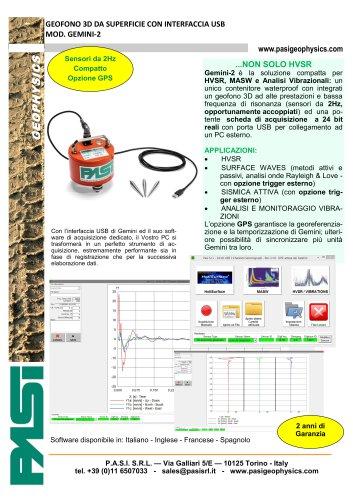 GEOFONO 3D DA SUPERFICIE CON INTERFACCIA USB