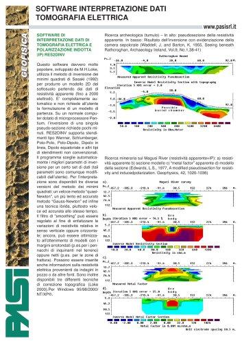 Software Tomografia Elettrica Res2dinv