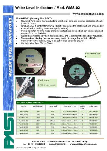 Water level meter Mod. WMS-02/temperature measure